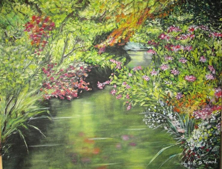 avr 2016 petit canal de l`étang du jardin de Giverny
